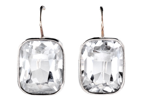 Russian Rock Crystal Earrings