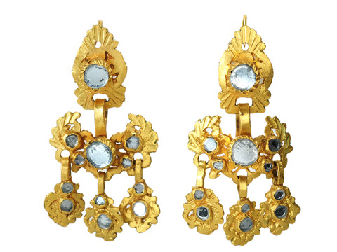 18th C. Spanish Girandole Earrings