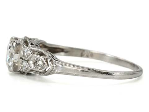 American Art Deco Diamond Platinum Ring
