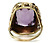 Leaves of Gold: Art Nouveau Amethyst Ring