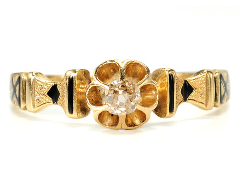 Victorian Buttercup Diamond Ring