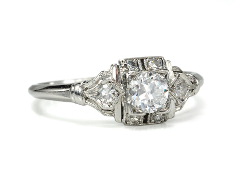 A Diamond Platinum Engagement Ring