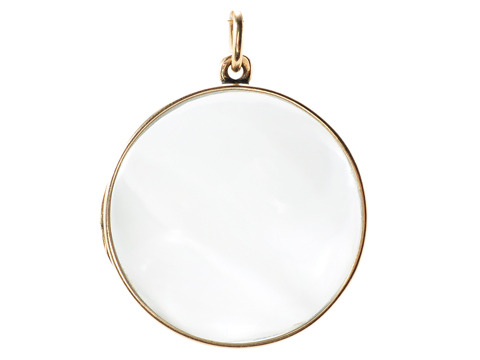 Clear as Glass: Very Large Antique Locket
