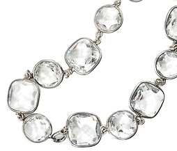 Flirty Flash: Rock Crystal Silver Necklace