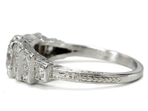 Art Deco Wonder of a Diamond Platinum Ring