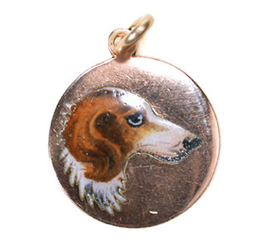 Art Deco Aristocracy in a Gold Dog Charm