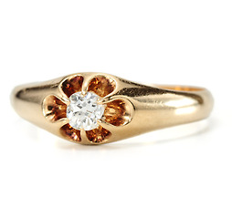 Victorian Diamond Flower Ring