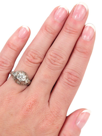Readied for a Kiss: Diamond Platinum Ring