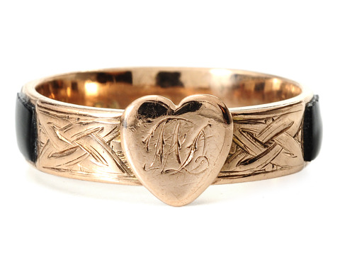 Antique Heart & Celtic Knot Ring