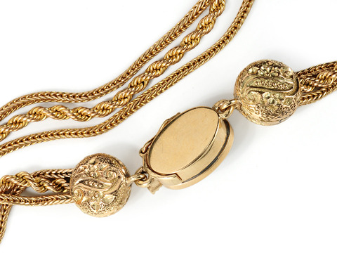 Marvelous Antique Gold Slide Necklace