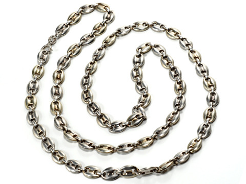 Alternate Current - Weighty Italian Silver Necklace