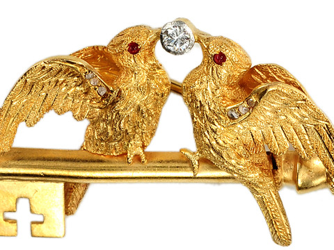 Love & Devotion in an Edwardian Antique Brooch