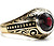 Smashing Garnet & Black Enamel Ring
