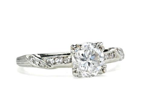 Romance & Light in a Vintage Engagement Ring