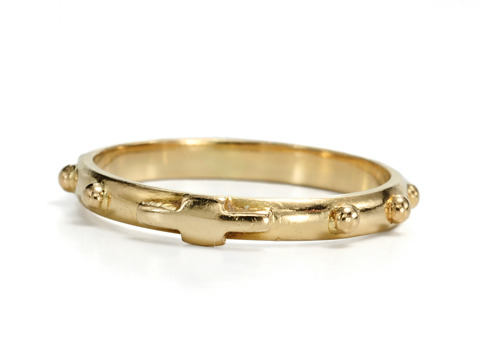 Italian Gold Rosary Decade Ring