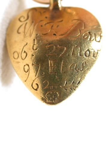 Enigmatic Stuart Crystal Heart with Date