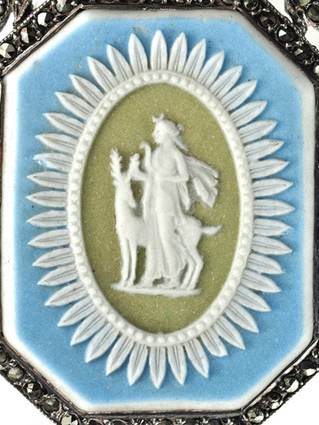Eighteenth Century Wedgwood Marcasite Pendant