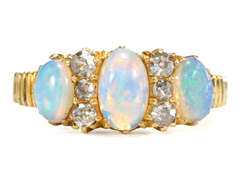 Edwardian Diamond & Opal Ring
