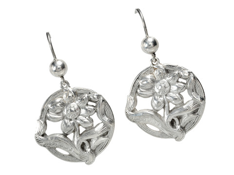 Art Nouveau Flower Earrings