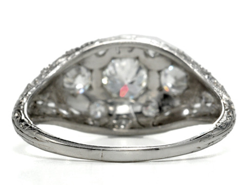 Dome of Wonder: Art Deco Diamond Ring