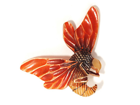 Scarce Horn Bee Brooch by Flamand