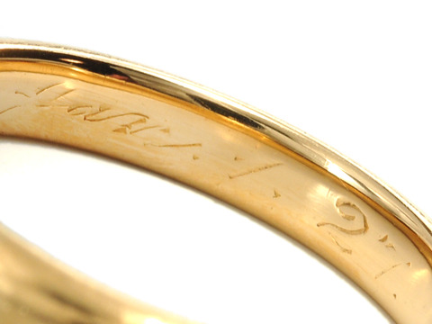 A Legend of 1927: Tiffany 18k Gold Ring