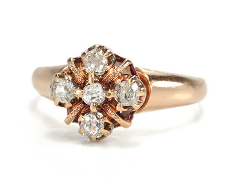 Sweet Delicacy: Antique Diamond Ring