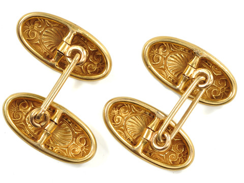 Ode to Apollo: Edwardian Gold Cufflinks