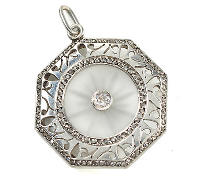 The Jeweler's Craft - Platinum Rock Crystal Pendant