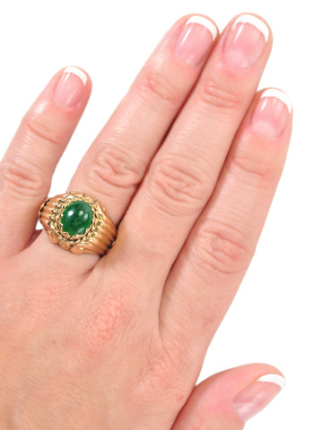 1940s Perfection in a Jade Ring