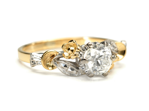 Floral Splendor - Diamond Engagement Ring