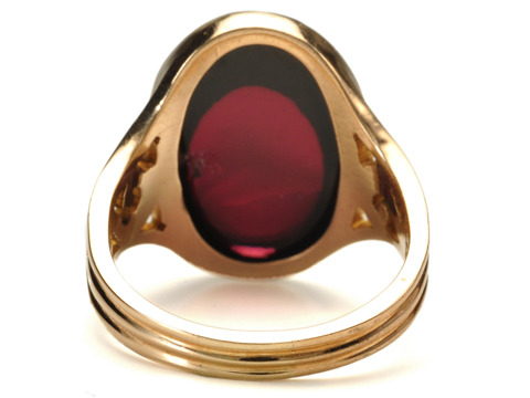 Edwardian Wine in an Antique Garnet Ring