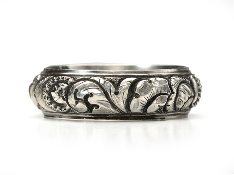 Ornate Victorian Eternity Ring Wedding Band