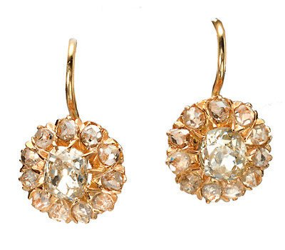 Victorian Sparkle in a Diamond Earring