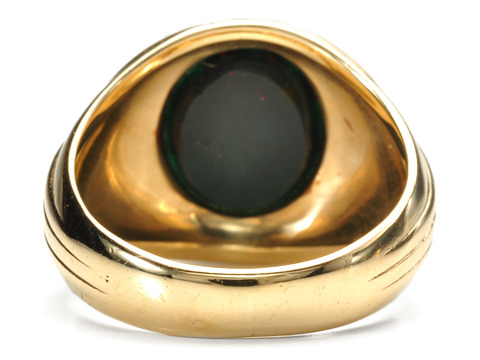 Art Deco Jones & Woodland Bloodstone Ring