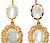 Moonlight Sonata: Edwardian Pendant  Earrings