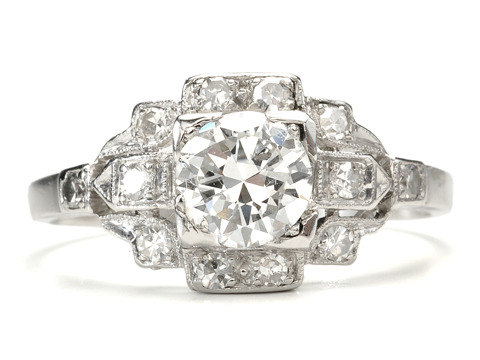 Dashing Diamond Platinum Ring