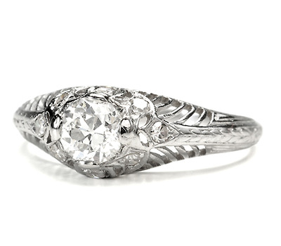 Exquisite Art Deco Diamond Platinum Ring