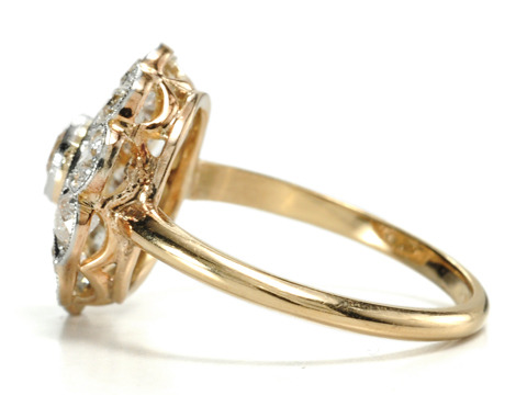 20th C. Diamond Cluster Ring