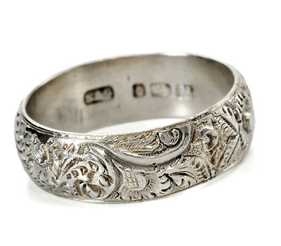 Fully Hallmarked Antique Eternity Band c. 1882