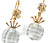 Antique Rock Crystal & Topaz Earrings