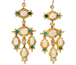 Magnificent Victorian Jeweled Girandole Earrings