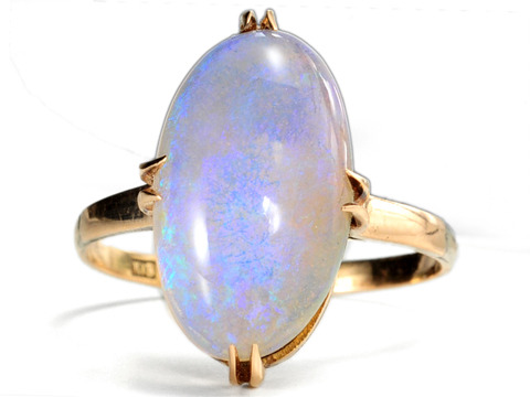 Art Deco Awe in an Opal Ring