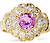 Pink Sapphire & Diamond Cluster Ring