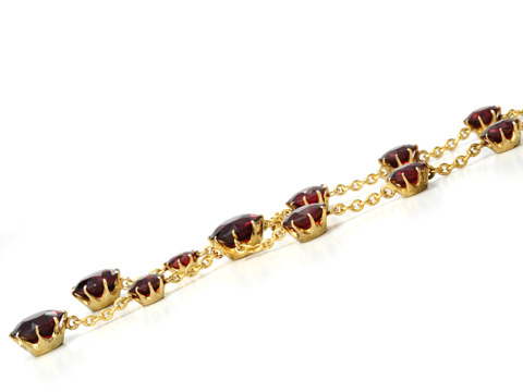 Temptation: Antique 18k Garnet Negligee Necklace