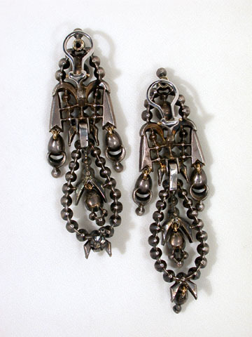 Diamond Spanish Pendeloque Earrings