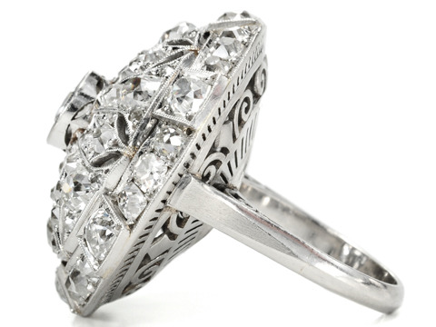 Unrivaled Art Deco Diamond Dome Ring of 8.58 ct.