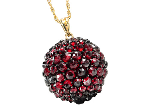Ball of Fire: Bohemian Garnet Pendant