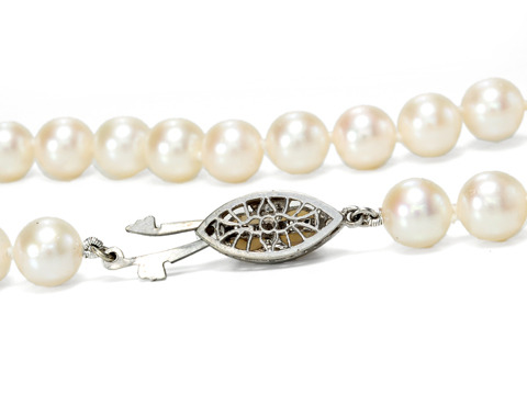 White Silk Divine Pearl Necklace