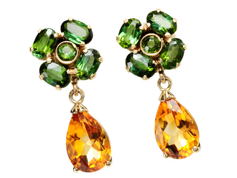 Lucky You: Tourmaline & Citrine Earrings